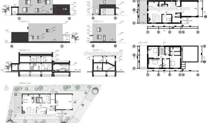 Modern House Plans Dwg Escortsea