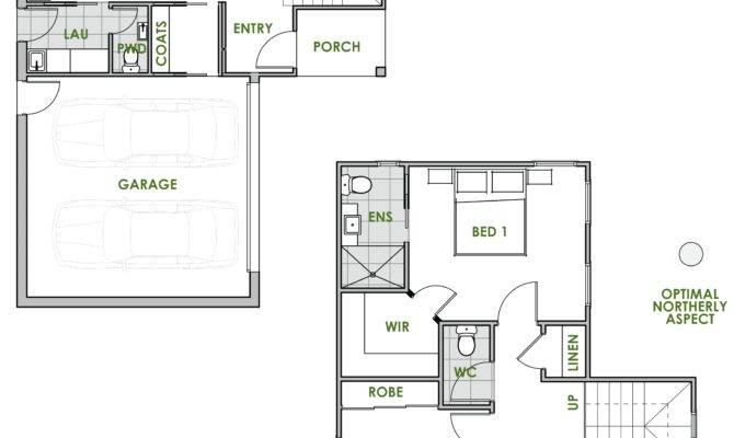 Modern House Plans Efficient Bedroom Rustic Metal