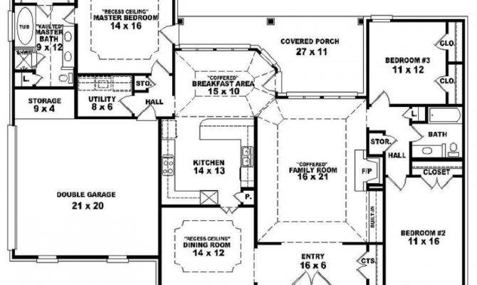 Modern House Plans One Story Two Bedroom Plan Small
