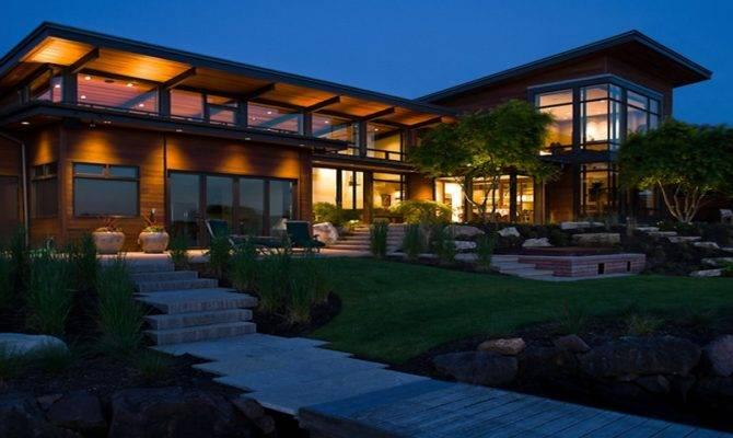 Modern Lake House Design Plans Contemporary