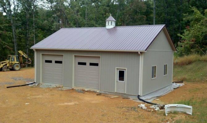 Modern Large Pole Barn Garage Kits Loft Has