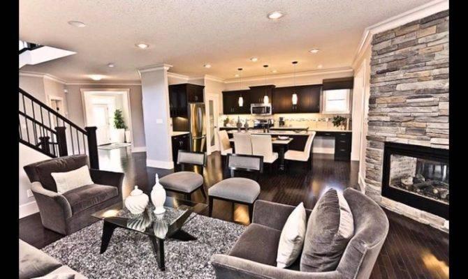 Modern Living Room Dining Together Youtube