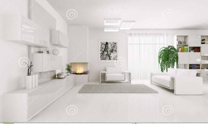 Modern Living Room White Minimalist