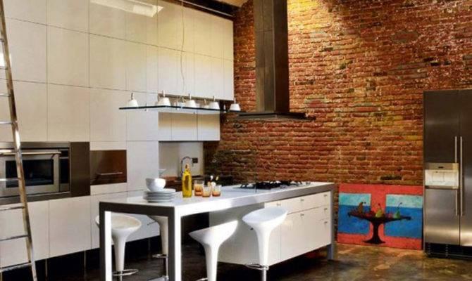 Modern Loft Industrial Bricks Element Apartment Ideas