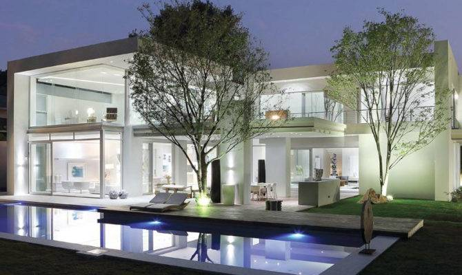 Modern Luxury House Johannesburg Night
