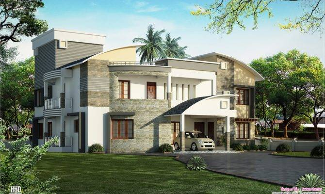 Modern Luxury Villa Design Kerala Home Floor Plans