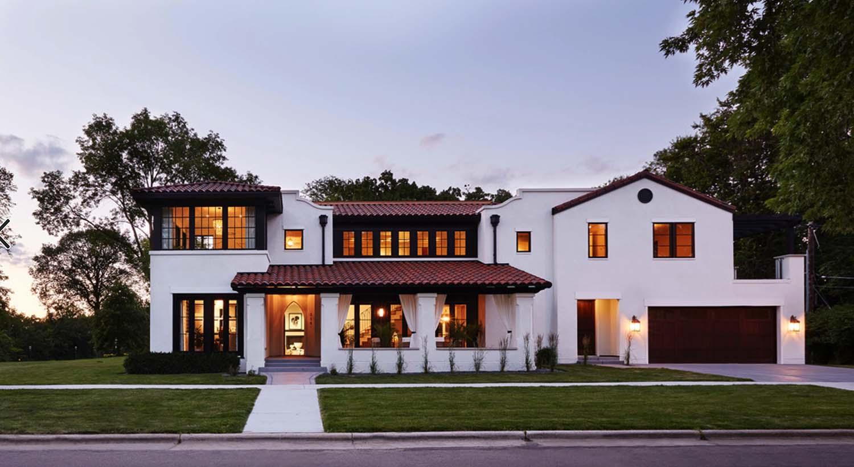 Modern Mediterranean Home Bluffs Overlooking - House Plans ...