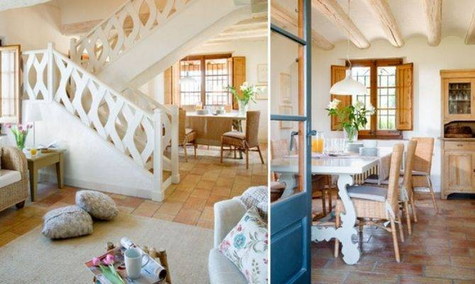 Modern Mediterranean House Interior Offers Rustic Charm