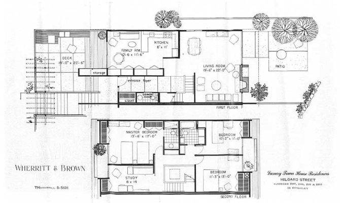 Modern Mid Century Floor Plan Villa Garcia All House Plans