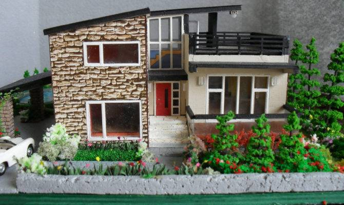 Modern Miniature Model House Property Scale