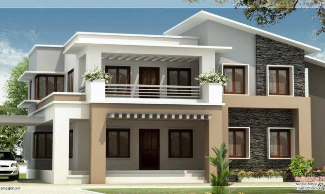 Modern Mix Double Floor Home Design Kerala