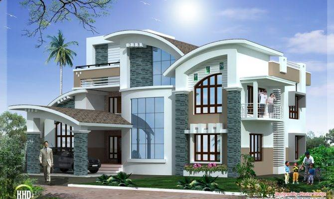 Modern Mix Luxury Home Design Kerala