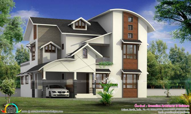 Modern Mixed Roof House Square Feet Kerala Home