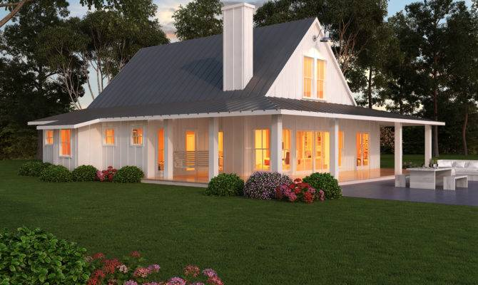 Modern One Story Farmhouse Plans Beds Baths