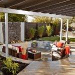 Modern Outdoor Sunken Living Room Design Ideas Wood