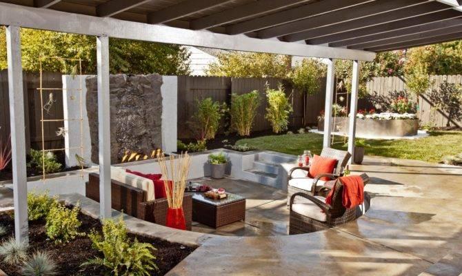 Modern Outdoor Sunken Living Room Design Ideas Wood