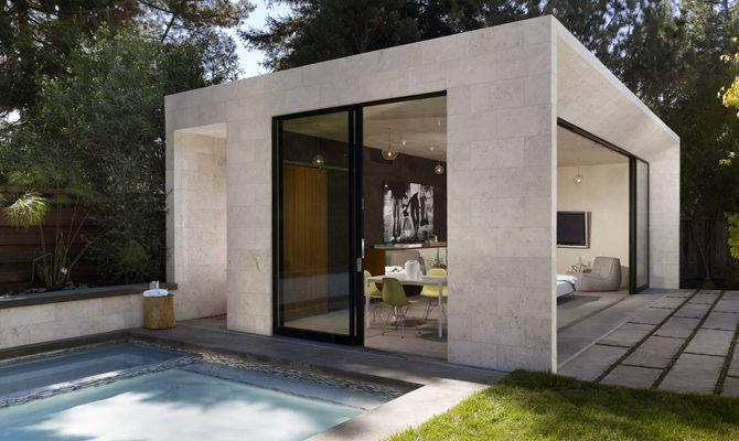 Modern Pool House Garden Sonoma Enertia Designs