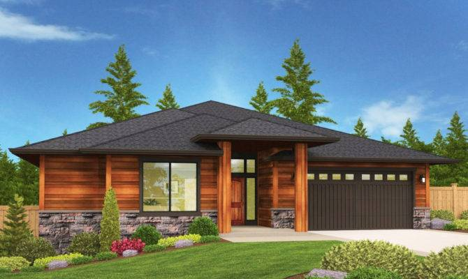 Modern Prarie Ranch House Plan Covered Patio