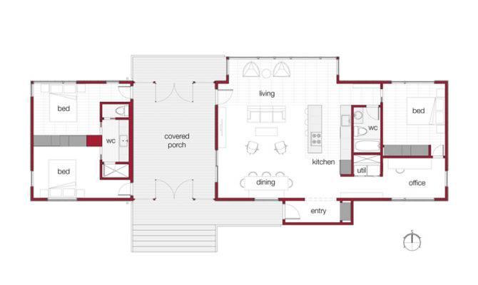 Modern Prefab Cabin Passive Solar Dogtrot Mod House