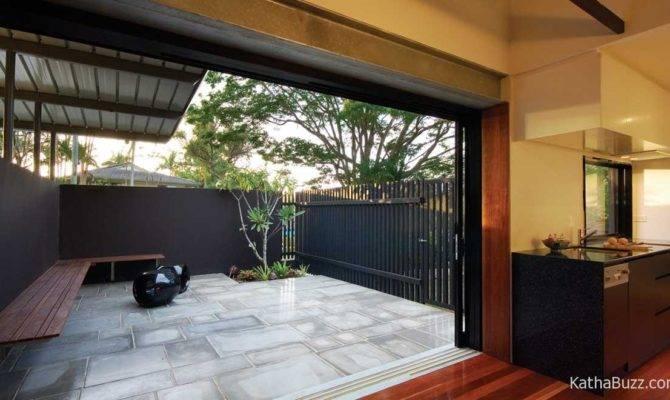Modern Simple Home Designs Courtyard Porch