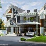 Modern Sloped Roof Home Kerala Design Floor Plans