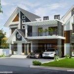 Modern Sloped Roof Home Kerala Design Floor Plans