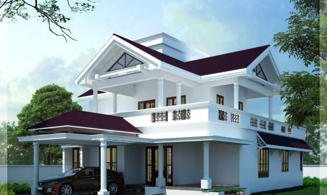 Modern Sloping Roof Home Design Kerala Floor Plans