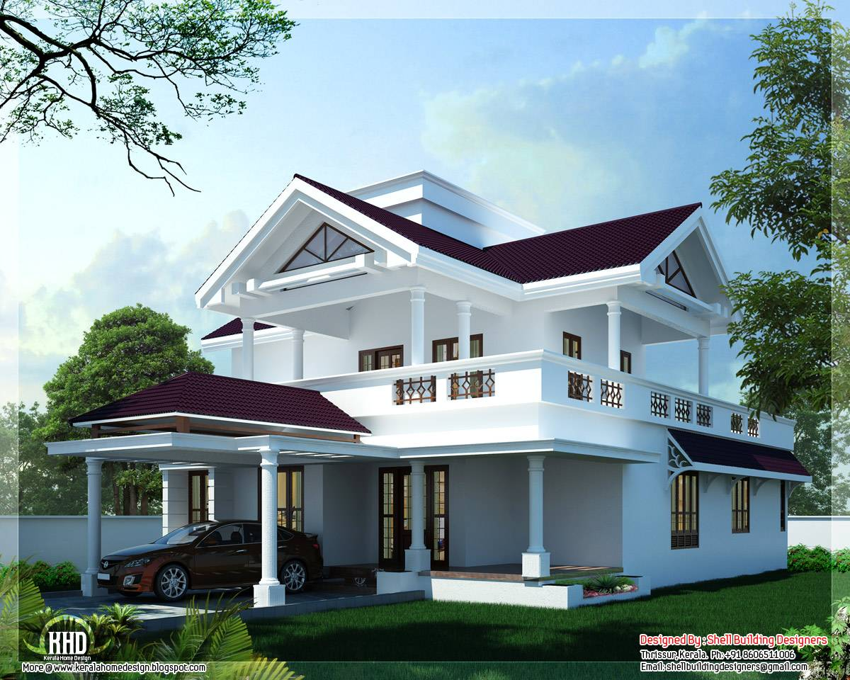 Modern Sloping Roof Home Design Kerala Floor Plans House Plans 81259