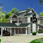 Modern Sloping Roof House Kerala Home Design Floor Plans