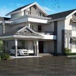 Modern Sloping Roof House Villa Design Kerala Home Floor