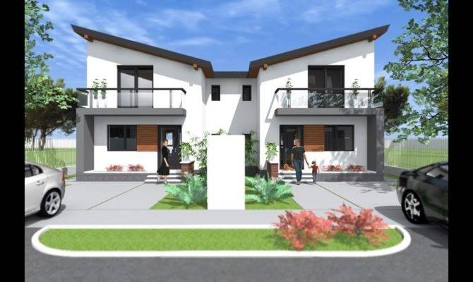 Modern Small Duplex House Design Bedroom