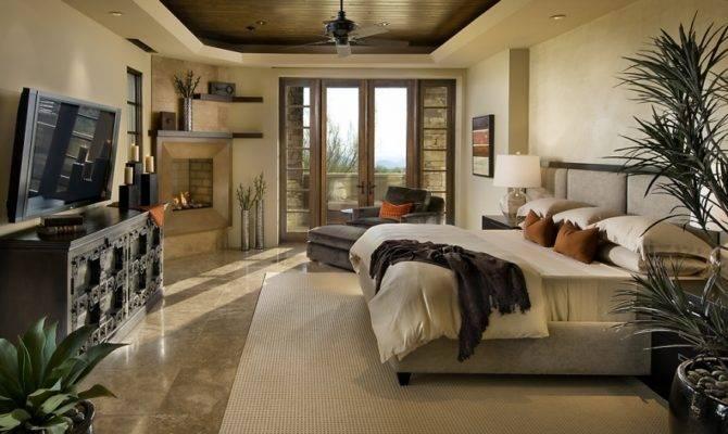 Modern Spanish House Master Bedroom