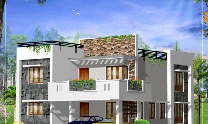 Modern Square Home Design Plan