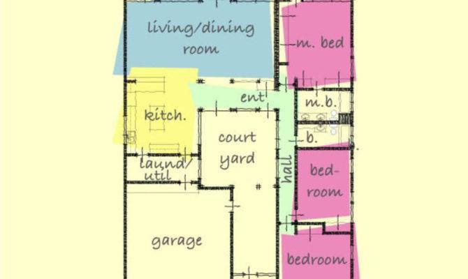 Modern Style House Plan Beds Baths Main