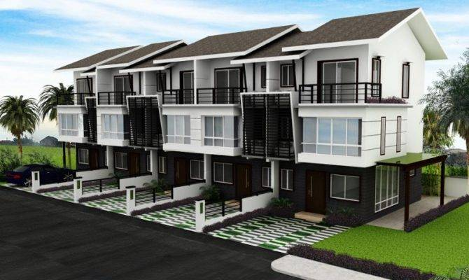 Modern Town Residential Model Homes Designs