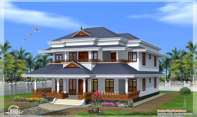 Modern Traditional Big House Kerala