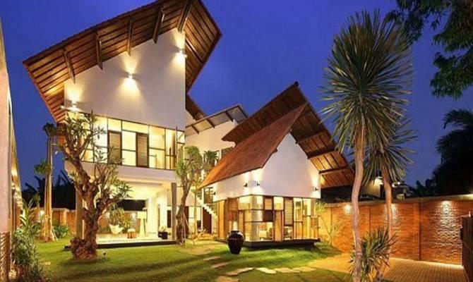 Modern Tropical Style House Plans Design