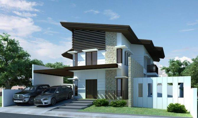 Modern Two Storey House Design Becoming Minimalist