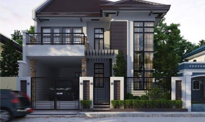 Modern Two Storey Terrace House Design Ideas Simple