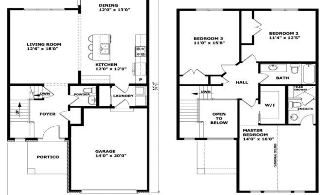 Modern Two Story House Plans Balcony