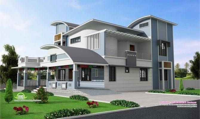 Modern Unique Style Villa Design Kerala Home