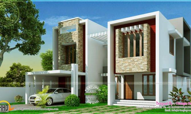 Modern Villa Design Square Feet Indian House Plans