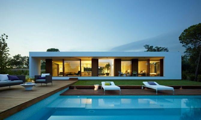 Modern Villa Indigo Designed Spanish Studio Josep Camps Olga