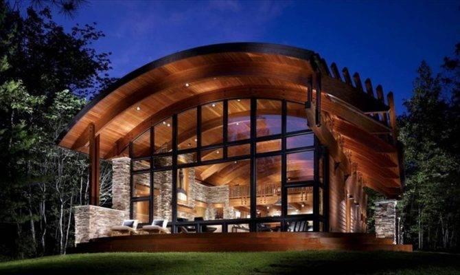 Modern Wood House Design Contemporary Log Plans Home Floor