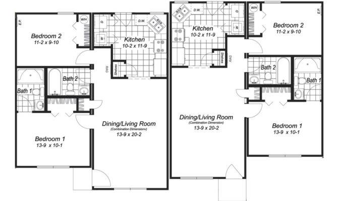 Modular Home Plans Duplex Floor