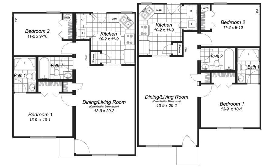 Modular Home Plans Duplex Floor House Plans 81870
