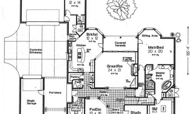 Monster House Plans Porte Cochere Design