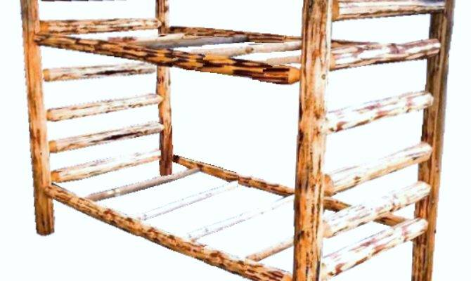 Montana Pioneer Corral Style Log Bunk Bed Great Northern