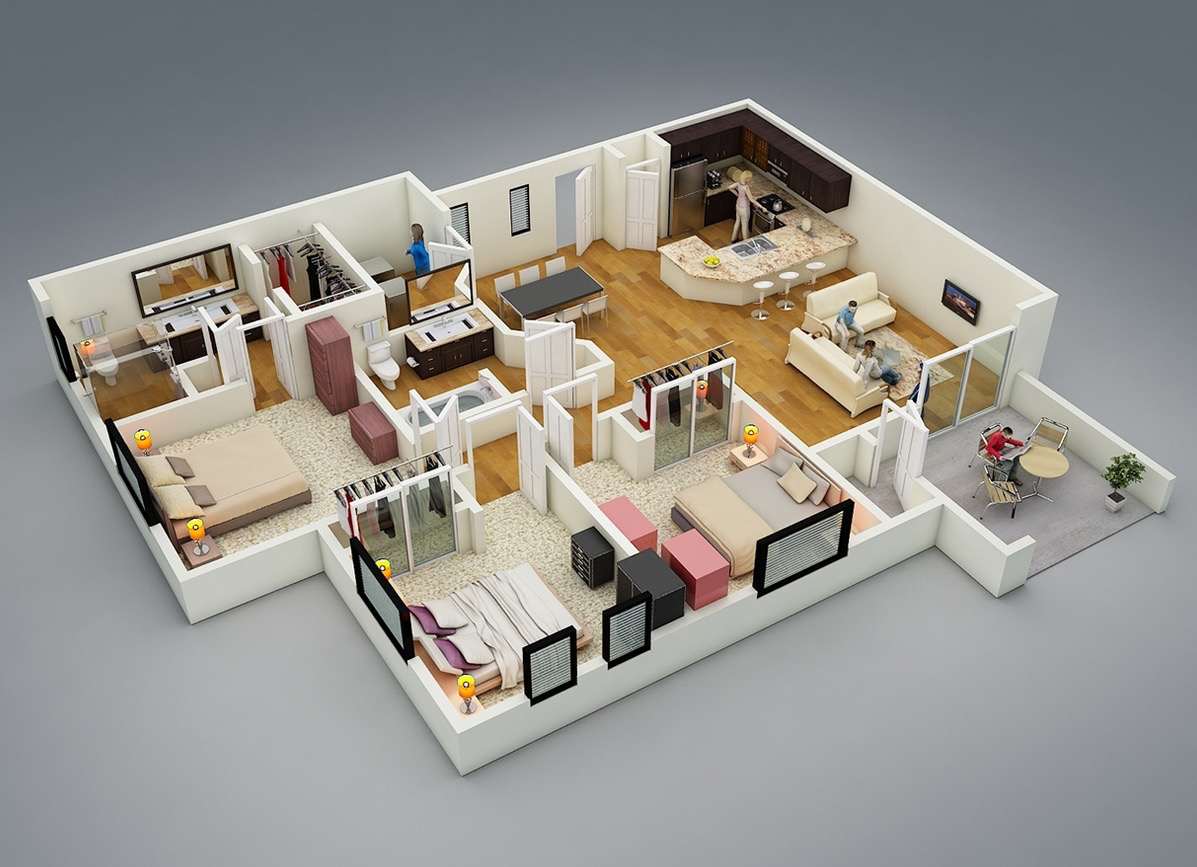More Bedroom Floor Plans Architecture Design - House Plans  #11