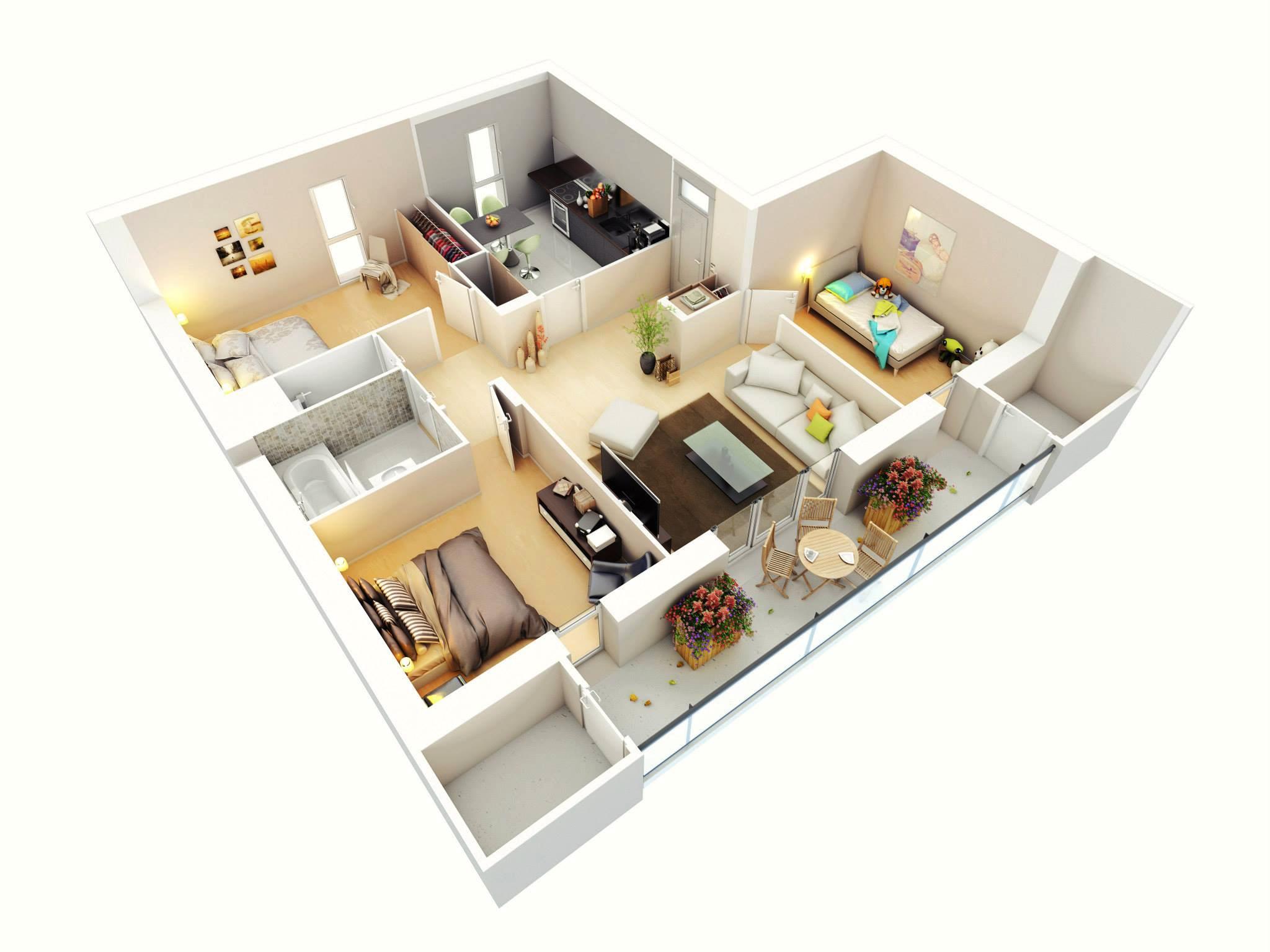 More Bedroom Floor Plans - House Plans  #11